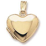 10K Gold Heart Locket Pendant by Rembrandt Charms