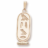 14K Gold Egyptian Cartouche Pendant by Rembrandt Charms
