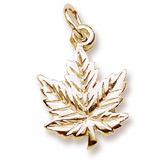10k Gold Maple Leaf Charm by Rembrandt Charms