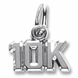 14K White Gold 10K Race Accent Charm by Rembrandt Charms