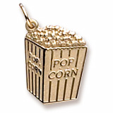 10K Gold Popcorn Charm by Rembrandt Charms