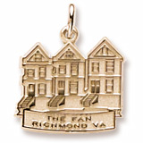 Gold Plated The Fan Richmond, VA Charm by Rembrandt Charms