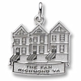 14K White Gold The Fan Richmond, VA Charm by Rembrandt Charms