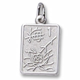 Sterling Silver Mahjong Tile Charm by Rembrandt Charms