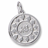 Sterling Silver Las Vegas Disc Charm by Rembrandt Charms