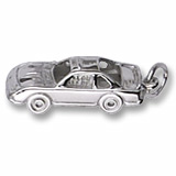 14K White Gold Race Car Charm by Rembrandt Charms