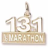 10k Gold 13.1 Marathon (stone) by Rembrandt Charms