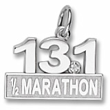 Sterling Silver 13.1 Marathon (stone) by Rembrandt Charms