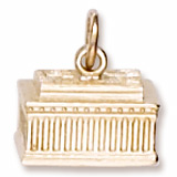 Gold Plated Lincoln Memorial Charm by Rembrandt Charms