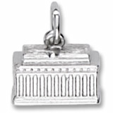 14K White Gold Lincoln Memorial Charm by Rembrandt Charms