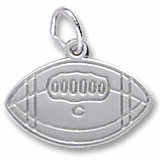 14K White Gold College Football Charm by Rembrandt Charms