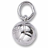 Sterling Silver Volleyball Accent Charm by Rembrandt Charms