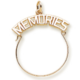 Gold Plate Memories Charm Holder by Rembrandt Charms