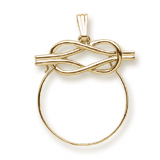 Gold Plate Infinity Charm Holder by Rembrandt Charms