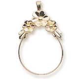 Gold Plate Darling Daisies Charm Holder by Rembrandt Charms