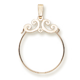 Gold Plate Carefree Charm Holder by Rembrandt Charms