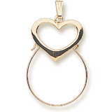 Gold Plate Heart Charm Holder by Rembrandt Charms