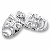Sterling Silver Comedy & Tragedy Masks Accent by Rembrandt Charms