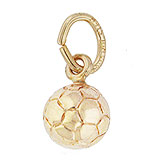 Gold Plate Soccer Ball Accent Charm by Rembrandt Charms