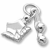 14K White Gold Bikini Accent Charm by Rembrandt Charms