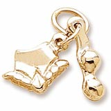 Gold Plate Bikini Accent Charm by Rembrandt Charms