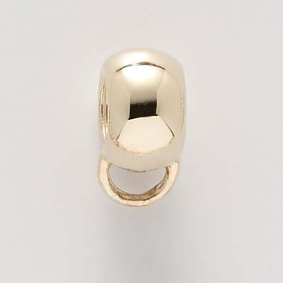 14K Gold Extra Wide Rounded CharmDrop by Rembrandt Charms