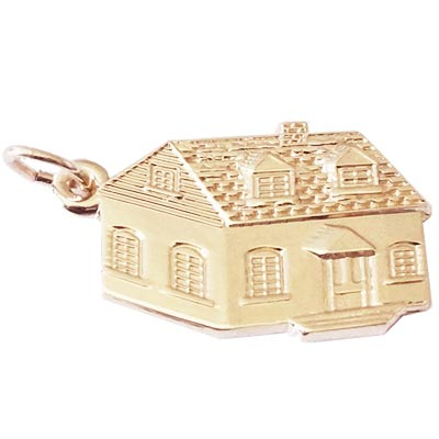 Gold Plate Colonial House Charm by Rembrandt Charms