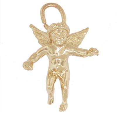 14K Gold Cherub Angel Charm by Rembrandt Charms