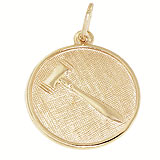 Gold Plated Gavel Disc Charm by Rembrandt Charms