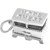 14K White Gold Hope Chest Charm by Rembrandt Charms