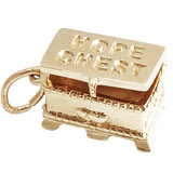 Gold Plate Hope Chest Charm by Rembrandt Charms