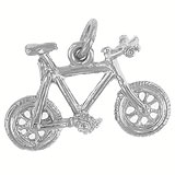 14K White Gold Mountain Bike Charm by Rembrandt Charms