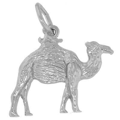 14K White Gold Camel Charm by Rembrandt Charms
