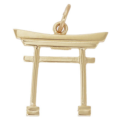 14k Gold Japanese Torii Gate Charm by Rembrandt Charms