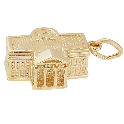14k Gold United States White House Charm by Rembrandt Charms