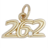 Gold Plated 26.2 Marathon (stone) Charm by Rembrandt Charms