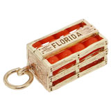 10K Gold Florida Oranges Charm by Rembrandt Charms