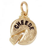 Gold Plated Cheese Charm by Rembrandt Charms