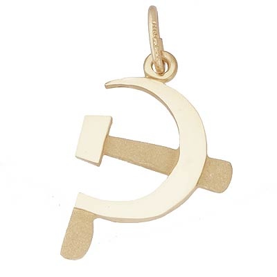 14k Gold Hammer and Sickle Charm by Rembrandt Charms