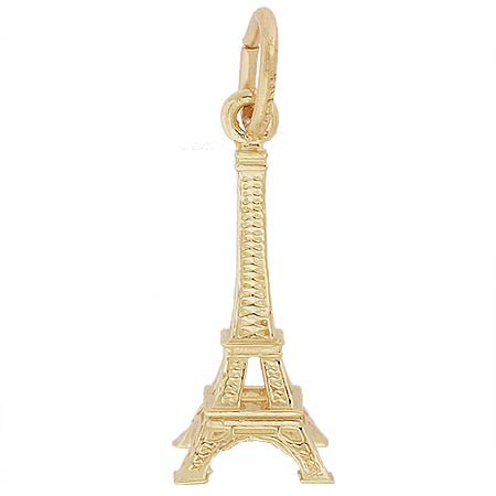 14k Gold Small Eiffel Tower Accent Charm by Rembrandt Charms