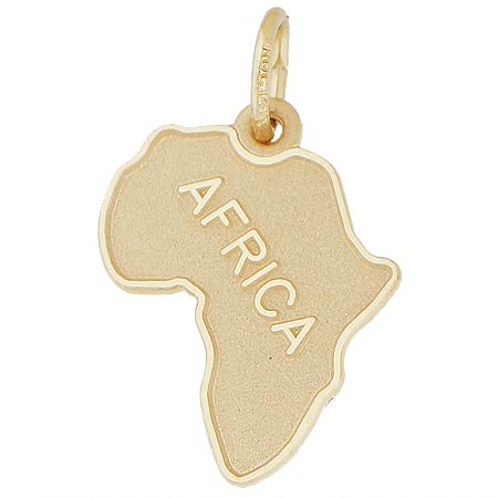 14k Gold Africa Map Charm by Rembrandt Charms