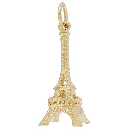 10K Gold Medium Eiffel Tower Charm by Rembrandt Charms