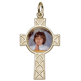 10K Gold Celtic Cross PhotoArt® Charm by Rembrandt Charms