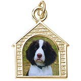 Gold Plated Dog House PhotoArt® Charm by Rembrandt Charms