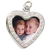 Sterling Silver Heart Scroll PhotoArt® Charm by Rembrandt Charms