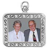 Sterling Silver Rectangle Scroll PhotoArt® Charm by Rembrandt Charms