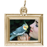 Gold Plated Small Rectangle PhotoArt® Charm by Rembrandt Charms