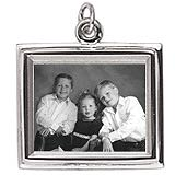 Sterling Silver Large Rectangle PhotoArt® Charm by Rembrandt Charms