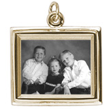 14K Gold Large Rectangle PhotoArt® Charm by Rembrandt Charms