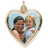 Gold Plated Large Heart PhotoArt® Charm by Rembrandt Charms